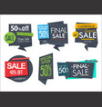 modern sale banners and labels collection 1 vector image vector image
