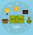 money finances set icons vector image vector image