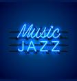neon music jazz signboard vector image vector image