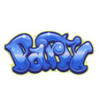 party word in graffiti style vector image vector image