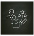 personal assessment chalk icon
