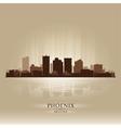 Phoenix Arizona skyline city silhouette vector image vector image