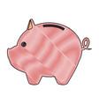 piggy bank saving or accumulation of money vector image