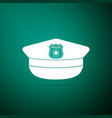 police cap with cockade icon police hat sign vector image vector image