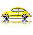 retro car yellow color white background ima vector image vector image