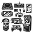 retro gaming set objects or elements vector image vector image