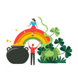 saint patrick celtic holiday taking place in march vector image