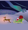 santa claus rides the north pole vector image