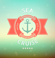 sea cruise anchor vector image vector image