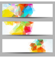 Set of banners with abstract triangles vector image vector image