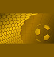 soccer background in yellow colors vector image