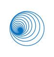 spirals circle vector image vector image