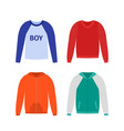 sweater for boy in flat design vector image vector image