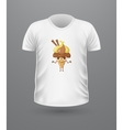 T-shirt Front View with Ice Cream Isolated vector image vector image