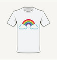 t-shirt rainbow hope summer 2020 vector image