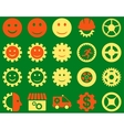 Tools and Smile Gears Icons vector image