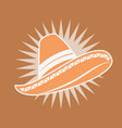 traditional hat mexican clothes image vector image vector image