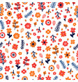 trendy seamless floral pattern scandinavian style vector image vector image