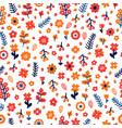 trendy seamless floral pattern scandinavian vector image vector image