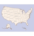 USA map with states names vector image vector image