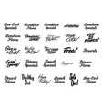 various advertising sign and lettering promotion vector image vector image