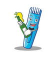 with beer trimmer mascot cartoon style vector image