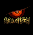 Halloween red eye design background vector image