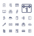 22 paper icons vector image vector image