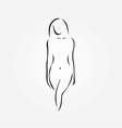 A nude woman vector image vector image