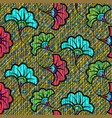african wax print fabric ethnic seamless flowers vector image vector image