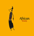 african woman with jug ornate sketch for your vector image vector image