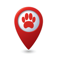 animal footstep RED pointer vector image