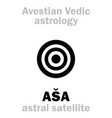 astrology astral planet asa asha vector image vector image
