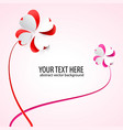 background with flowers scarlet heart vector image vector image