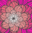 beautiful flower drawn hand perfect floral card vector image