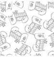 bed for baby monochrome seamless pattern vector image