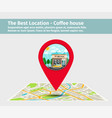 best location coffee house vector image