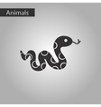 black and white style icon reptile snake vector image