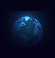 blue earth planet world background vector image