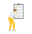 business man near to do list flat style vector image