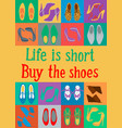 buy the shoes vector image vector image