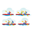 cartoon color characters people and extreme water vector image vector image