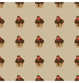 Choco cake brown seamless pattern vector image vector image