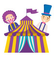 circus clown and magician funny characters vector image