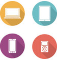 Consumer electronics flat design icons set vector image