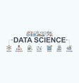 data science banner web icon for computer science vector image vector image