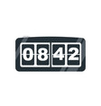 electronic table clock flat vector image