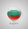 European flags set - Bulgaria vector image vector image
