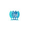 fish menu design seafood restaurant menu fish vector image