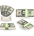 full set of five dollar banknotes vector image